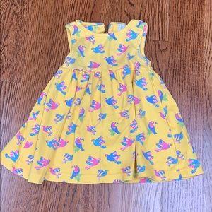 JoJo yellow dress 6-12m